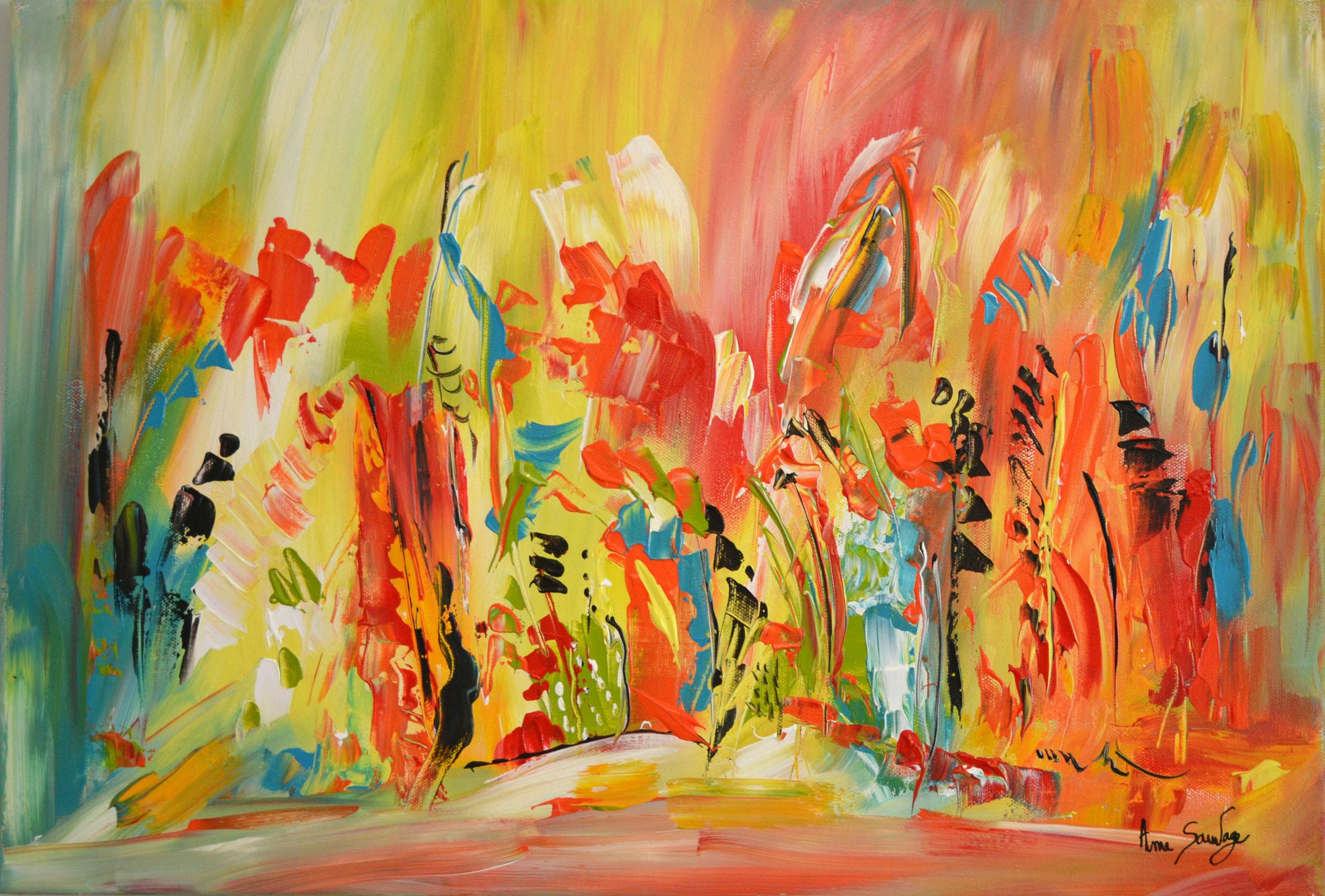 Plus de couleurs avec un tableau abstrait