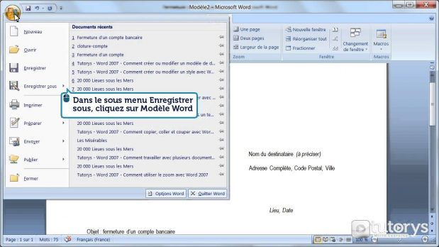 Comment modifier un document word?